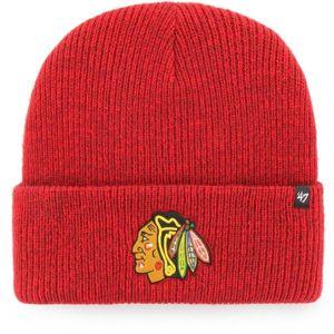 47 NHL Chicago Blackhawks Brain Freeze CUFF KNIT červená UNI - Zimní čepice