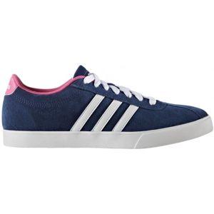 adidas COURTSET W tmavě modrá 4 - Dámská vycházková obuv