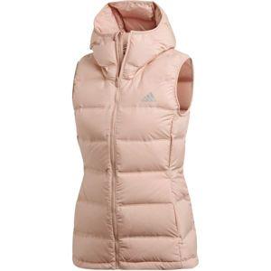 adidas WOMEN HELIONIC DOWN VEST růžová S - Dámská vesta