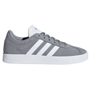adidas VL COURT 2.0 K šedá 6.5 - Dětská volnočasová obuv