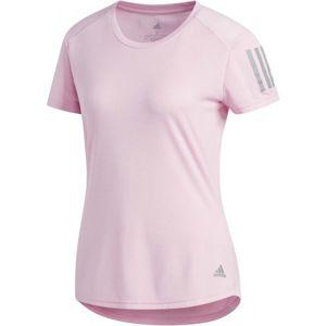 adidas OWN THE RUN TEE růžová L - Dámské běžecké tričko