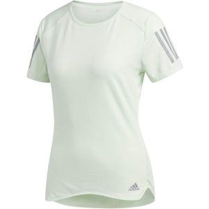 adidas RS SS TEE W zelená M - Dámské běžecké triko