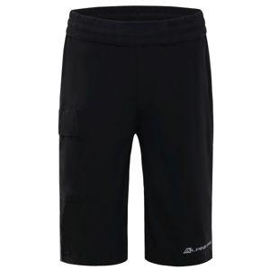 ALPINE PRO OSMORO černá 128-134 - Dětské šortky