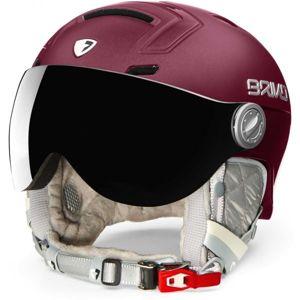 Briko AMBRA VISOR PHOTO vínová (56 - 58) - Dámská lyžařská helma