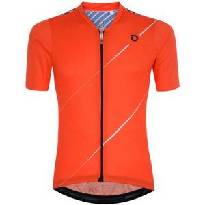 Briko FRESH GRANPH 4S0 oranžová L - Pánský cyklistický dres