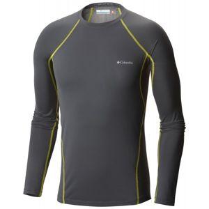 Columbia MIDWEIGHT LS TOP M šedá XL - Pánské funkční triko