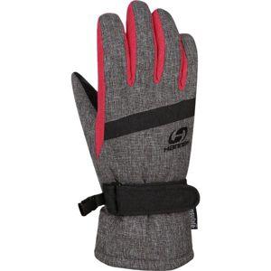 Hannah CLIO šedá 7-8 - Dětské zateplené rukavice