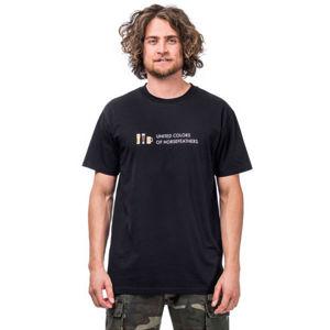 Horsefeathers UNITED COLORS T-SHIRT černá L - Pánské tričko