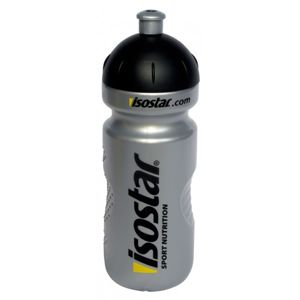 Isostar BIDON SILVER 650ML černá  - Univerzální sportovní láhev