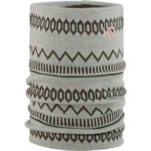 KARI TRAA AKLE TUBE tmavě šedá NS - Multifunkční pletený šátek