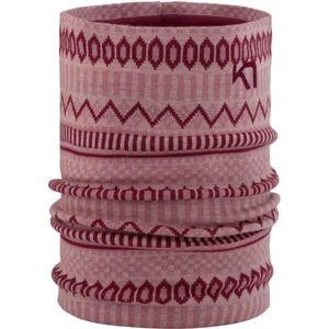 KARI TRAA AKLE TUBE růžová NS - Multifunkční pletený šátek