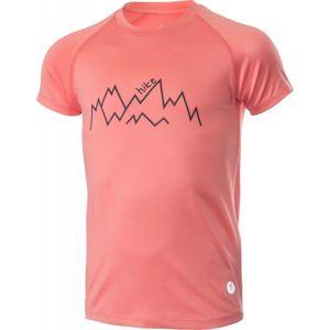 Klimatex ELLIS růžová 146 - Junior sportovní triko