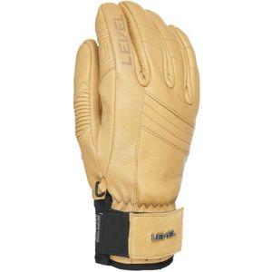 Level REXFORD béžová 9 - Celokožené rukavice