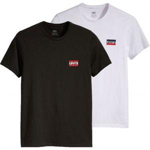 Levi's 2PK CREWNECK GRAPHIC - dvojbalení černá M - Pánská trička - multipack
