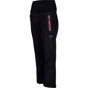 Lewro ALINA černá 128-134 - Dívčí softshellové kalhoty