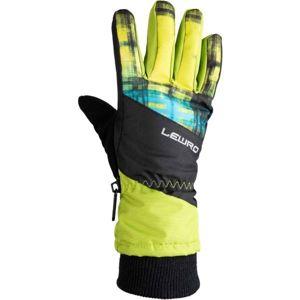 Lewro PIRUZ zelená 12-15 - Dětské lyžařské rukavice