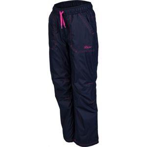 Lewro LEI 116-146 růžová 116-122 - Dětské zateplené kalhoty