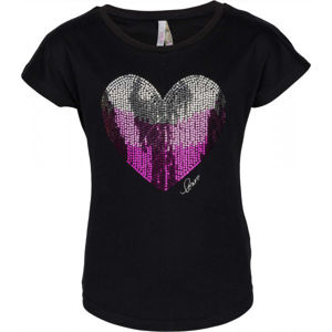 Lewro JOLA černá 116-122 - Dívčí tričko