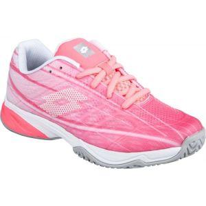 Lotto MIRAGE 300 ALR JR růžová 32 - Dívčí tenisová obuv