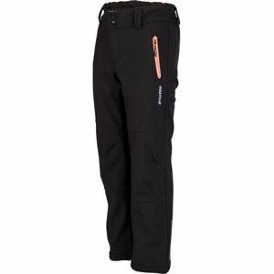 Lotto DAREK černá 128-134 - Dívčí softshellové kalhoty