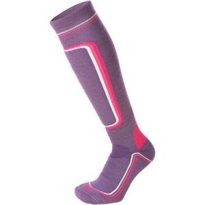 Mico HEAVY PRIMALOFT WOMAN SKI SOCKS W fialová L - Dámské lyžařské ponožky
