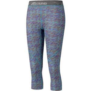 Mizuno IMPULSE 3/4 PR TIGHT W modrá S - Dámské elastické 3/4 kalhoty