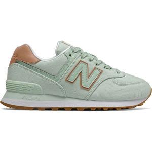 New Balance WL574SCD zelená 6.5 - Dámská volnočasová obuv