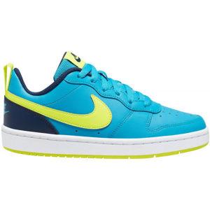 Nike COURT BOROUGH LOW 2 GS modrá 4 - Dětská volnočasová obuv