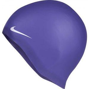 Nike SOLID SILICONE fialová NS - Plavecká čepice