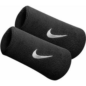 Nike SWOOSH DOUBLEWIDE WRISTBAND černá NS - Potítko