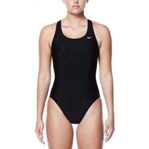 Nike NYLON SOLIDS černá 40 - Dámské jednodílné plavky