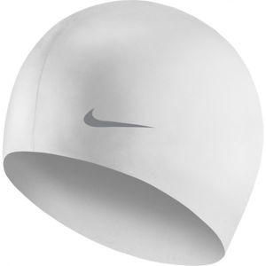 Nike SOLID SILICONE YOUTH bílá NS - Dětská plavecká čepice