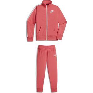 Nike TRK SUIT TRICOT G růžová XL - Dívčí souprava