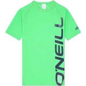 O'Neill PB LOGO SHORT SLEEVE SKINS zelená 10 - Chlapecké koupací tričko s UV filtrem