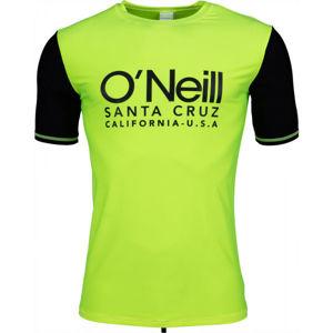 O'Neill PM CALI S/SLV SKINS zelená XL - Pánské tričko do vody