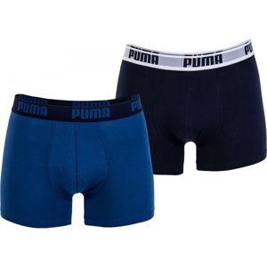 Puma BASIC BOXER 2P tmavě modrá L - Pánské boxerky
