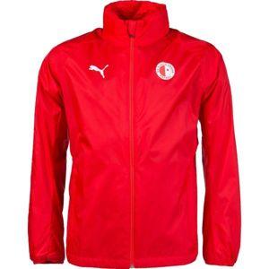 Puma LIGA TRG RAIN JKT SLAVA červená XL - Pánská sportovní bunda