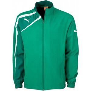 Puma SPIRIT WOVEN JACKET zelená S - Sportovní bunda