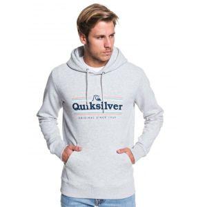 Quiksilver GET BUZZY SCREEN FLEECE šedá S - Pánská mikina