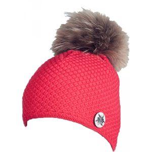 R-JET TOP FASHION ALPINKA červená UNI - Dámská pletená čepice