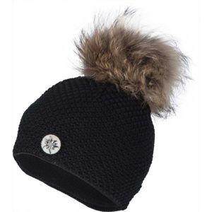R-JET TOP FASHION ALPINKA černá UNI - Dámská pletená čepice