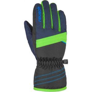 Reusch ALAN JR zelená 5.5 - Dětské lyžařské rukavice