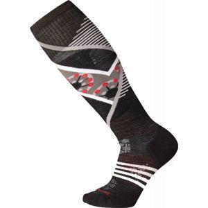 Smartwool PHD SKI LIGHT ELITE PATTERN W černá M - Dámské lyžařské ponožky