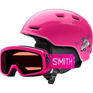 Smith ZOOM JR růžová (48 - 53) - Dětská lyžařská helma