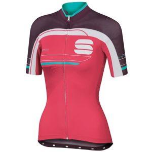 Sportful GRUPPETTO W JERSEY růžová M - Dámský cyklodres