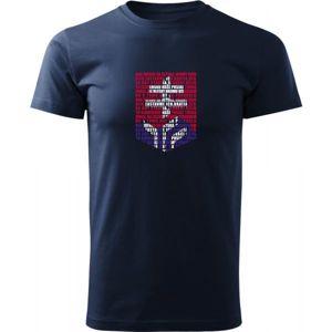 Střída LOGO Z HYMNY SVK tmavě modrá XXL - Pánské triko